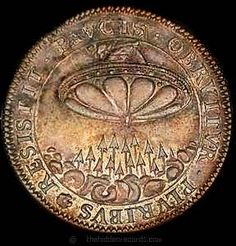 The Mysterious Worldwide UFO Coins The century French copper coin. Is it supposed to be a UFO of some sort, or a symbolic representation of the Biblical Ezekiel's wheel? Ancient Ruins, Ancient Artifacts, Ancient History, European History, British History, Ancient Greece, Ancient Egypt, American History, Unexplained Mysteries