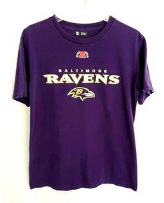 3396e6e9 NFL Team Purple TEE T-Shirt Baltimore Ravens UNISEX Sz MEDIUM SHORT SLEEVE  TOP #