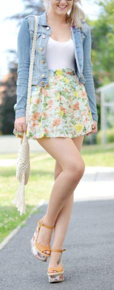 Floral #pastel skater skirt http://rstyle.me/n/gpdavr9te