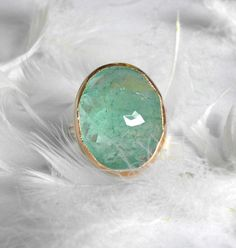One of a Kind Natural Colombian Emerald by Michelle Lenae Jewelry. Exquisite color.