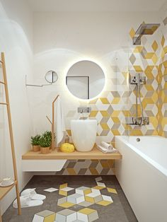 click to enlarge  Modern bath