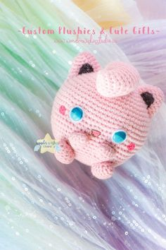 See this crochet jigglypuff handmade by Wonder Wishes Studio, you can commission your own over at my shop #jigglypuff #crochet #commission