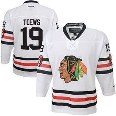 Youth Chicago Blackhawks Jonathan Toews Reebok White 2015 Winter Classic  Premier Player Jersey 16d4aa497