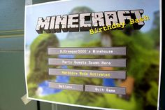 MineCraft Birthday Party Ideas could make an invite like this.