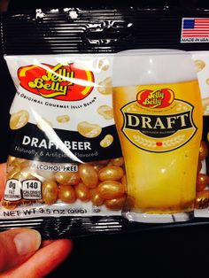 Have you tried Jelly Belly's new Draft Beer flavor? Calories on the outside, delicious draft flavor (alcohol free) on the inside.