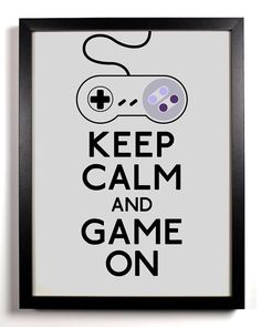 Keep Calm and Game On Super Nintendo by KeepCalmAndStayGold, $8.99