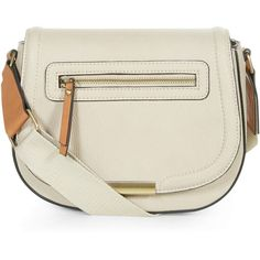 Accessorize Marcy Webbing Strap Saddle Bag (64 CAD) ❤ liked on Polyvore featuring bags, handbags, shoulder bags and saddle bags