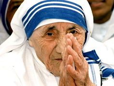 """Mother Teresa Quotes-""""God made the world rich enough to feed and clothe all human beings."""""""