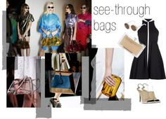 """""""see-through bags"""" by farfetch ❤ liked on Polyvore"""