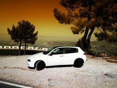 Alfa Romeo 147 Blanco 1.6 Twin Spark 105 cv #AlfaRomeo147 #Alfistas #AlfaRomeo Alfa Romeo 147, Mk1, Ducati, Twin, Gun Turret, Twins