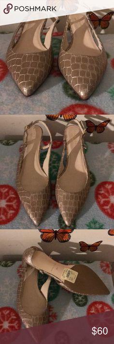 Cole Haan signature 👠 Kitten heels 👠  Graphic print detail Sling back  NWT Cole Haan Shoes Heels