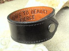 Leather bracelet- cool gift idea for a guy.