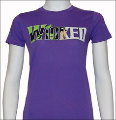 Wicked the Broadway Musical - Ladies Witch Logo T-Shirt $34.95. I really like this one