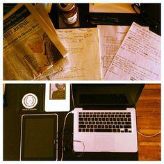 analog desk photo by b_bunk