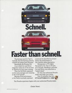 1988 Porsche Print Ad