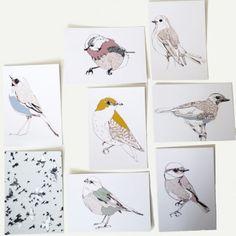 Kaartenset Birds
