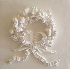 Rose Wreath Plaster Plaque