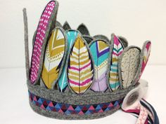 Kronen - Wieder da! Indianer Kopfschmuck - ein Designerstück von mitFreude bei…