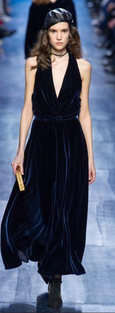 Dior Outono Inverno 2017/18 Paris Fashion Week - Veludo Molhado