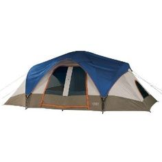 Spacious and weather-resistant, the Wenzel Great Basin 18-by-10-foot dome tent sleeps up to nine campers in its two rooms, making it ideal for large families or smaller families with lots of gear. The Great Basin is made of rugged, weather-repellent Weather Armor polyester with a polyurethane coating for reliability, helping it keep water out and warmth in.