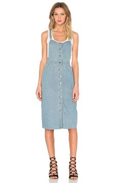 #REVOLVE FRONT BUTTON OVERALL DRESS CAPULET TRIED BUT LOOKED WIRED