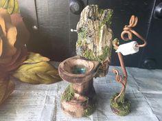 Faery Bathroom Set fairy furniture miniature toilet