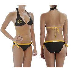 bruins women apparel | Calhoun Boston Bruins Women's Logo Bikini - MLB.com Shop
