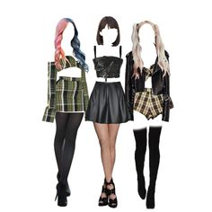 A fashion look created by JDK featuring Legs, JEAN PAUL GAULTIER biker-style bandeau top, Doll Legs, png. Browse and shop related looks. Kpop Fashion Outfits, Stage Outfits, Pink Trousers, Mode Kpop, Fantasy Dress, Biker Style, Bandeau Top, Aesthetic Clothes, Kpop Girls