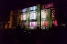 "Genius Loci Weimar 2013 Facade projection festival // Location: Bauhaus University Weimar // RDV Collectif: ""Legacy"" // Photo: www.henry-sowinski.info Genius Loci, Bauhaus, Facade, University, Wall, Painting, Weimar, Painting Art, Facades"