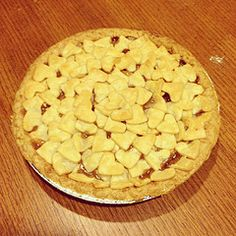 Apple Pie with Heart Topping