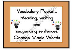 Magic 100 words ORANGE Packet Flashcards, centre activities Zaner Bloser font from Just Teach on TeachersNotebook.com (63 pages)