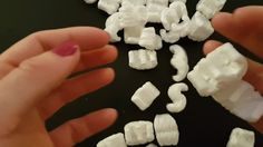 ASMR Packing Peanuts   Squeezing, Rustling & Cutting   Intense Crinkle S...