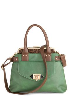Green of the Jungle Bag, #ModCloth  generally not my style but there is something about this purse I like