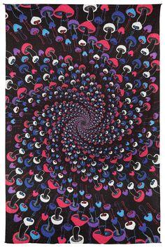 Tapestry-Spiral Mushrooms