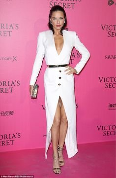 Alessandra Ambrosio and Adriana Lima lead Victoria's Secret models #dailymail