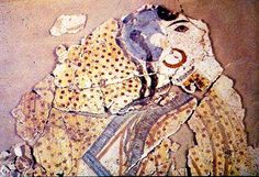 Acrogirl2 Potnia Theron, Minoan Art, Mycenae, Beautiful Ruins, Notebook Art, Bible Pictures, Greek Art, Ancient Art, Map Art