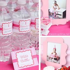 """""""Pretty in Pink"""" 1st Birthday for a girl --This blog has 1,000s of party ideas! Baby showers, little girl and boy birthdays, holiday partys, and bridal showers!"""