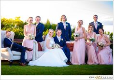 Bridal party posing for photo at Flaxton Gardens | Kirk & Treens Wedding Photography | Flaxton Gardens Winter Wedding | http://kirkandtreens.com | Wedding Photo Idea