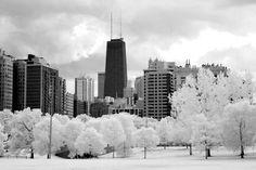 Frozen city of big shoulders.