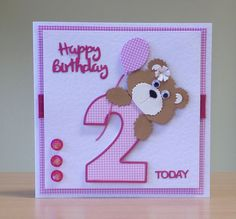 Baby Cards Handmade Templates Design Ideas For 2019 Baby Birthday Card, Homemade Birthday Cards, Birthday Card Design, Homemade Cards, 2nd Birthday, Kirigami, Bday Cards, Marianne Design, Cool Cards