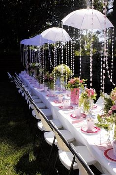 Love this! Looks so pretty. Could work for a wedding, adult tea party, bridal shower, baby shower, or little girls party.