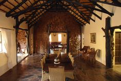 Magnificent Bushveld themed dining room for a welcoming and homey feeling