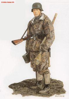 Waffen SS - SS-Schuetze, Germania 1945