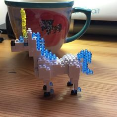 Do you want to build a unicorn 🦄? I did. What should I name him/her? #jenferch #nanoblock #unicorn