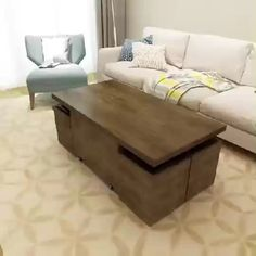 An amazing coffee table design shared by Click the image to try our free home design app. Keywords: living room furniture, furniture tables, sitting chairs, kitchen dining room, home… Folding Furniture, Space Saving Furniture, Home Decor Furniture, Table Furniture, Furniture Decor, Living Room Furniture, Rustic Furniture, Furniture For Small Spaces, Outdoor Furniture