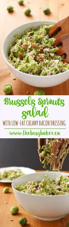 The Busy Baker: Brussels Sprouts Salad with Creamy Bacon Dressing (and GIVEAWAY!)