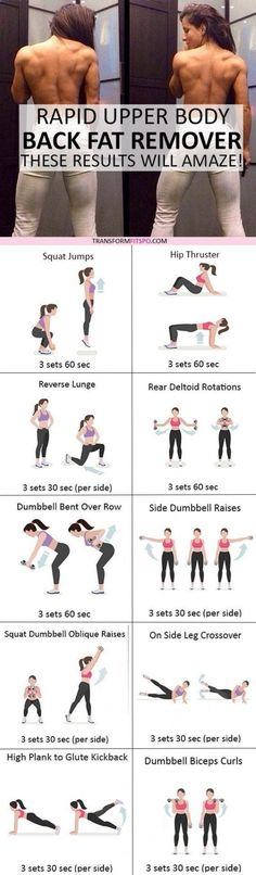 fitness R and share if this workout gave you a toned back! Click the pin for the full workout. Fitness Workouts, Fitness Motivation, Sport Fitness, Body Fitness, At Home Workouts, Female Fitness, Health Fitness, Workout Diet, Fitness Shirts
