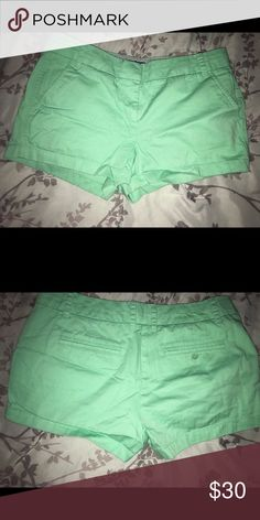 Teal shorts No back pockets J. Crew Shorts
