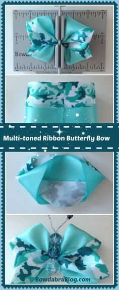 Create a DIY Butterfly Bow with the Mini Bowdabra, Attach this beautiful butterfly bow to a clip or headband and wear in your hair. Add it to a hat or wear it as a brooch.