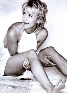 Meg Ryan, when she was cute before all her plastic surgeries!